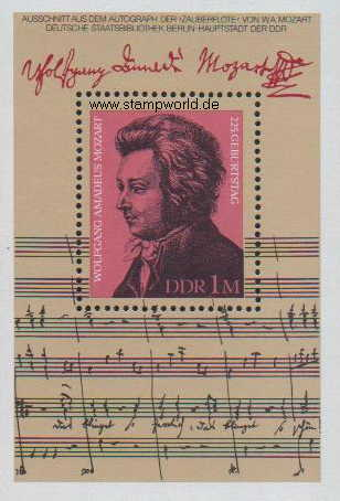 Briefmarken/Stamps Mozart