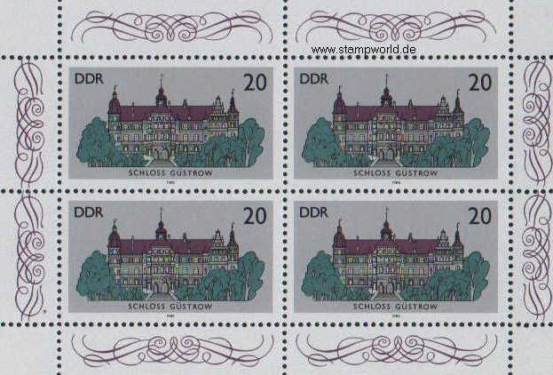 Briefmarken/Stamps Schlösser/Güstrow