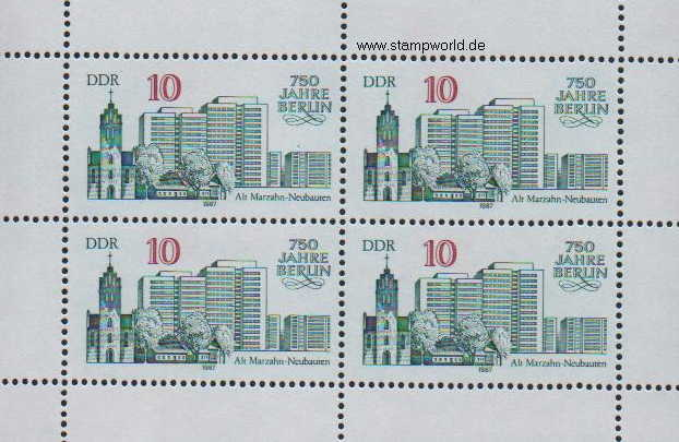 Briefmarken/Stamps Berlin/Alt-Marzahn