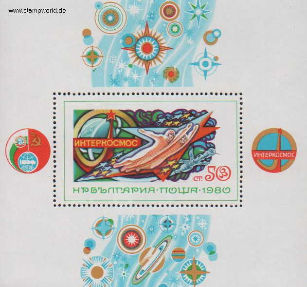 Briefmarken/Stamps Weltraum (Interkosmos)