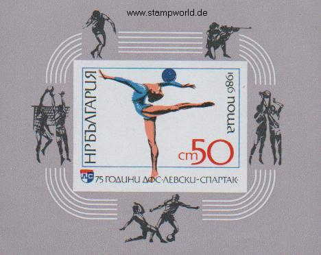 Briefmarken/Stamps 75 J. Sportverein Levski/Gymnastik