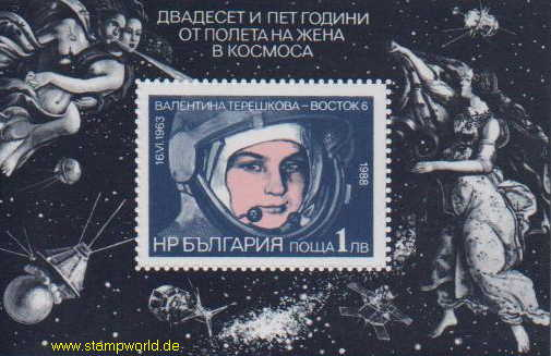 Briefmarken/Stamps Kosmonautin/Satelliten