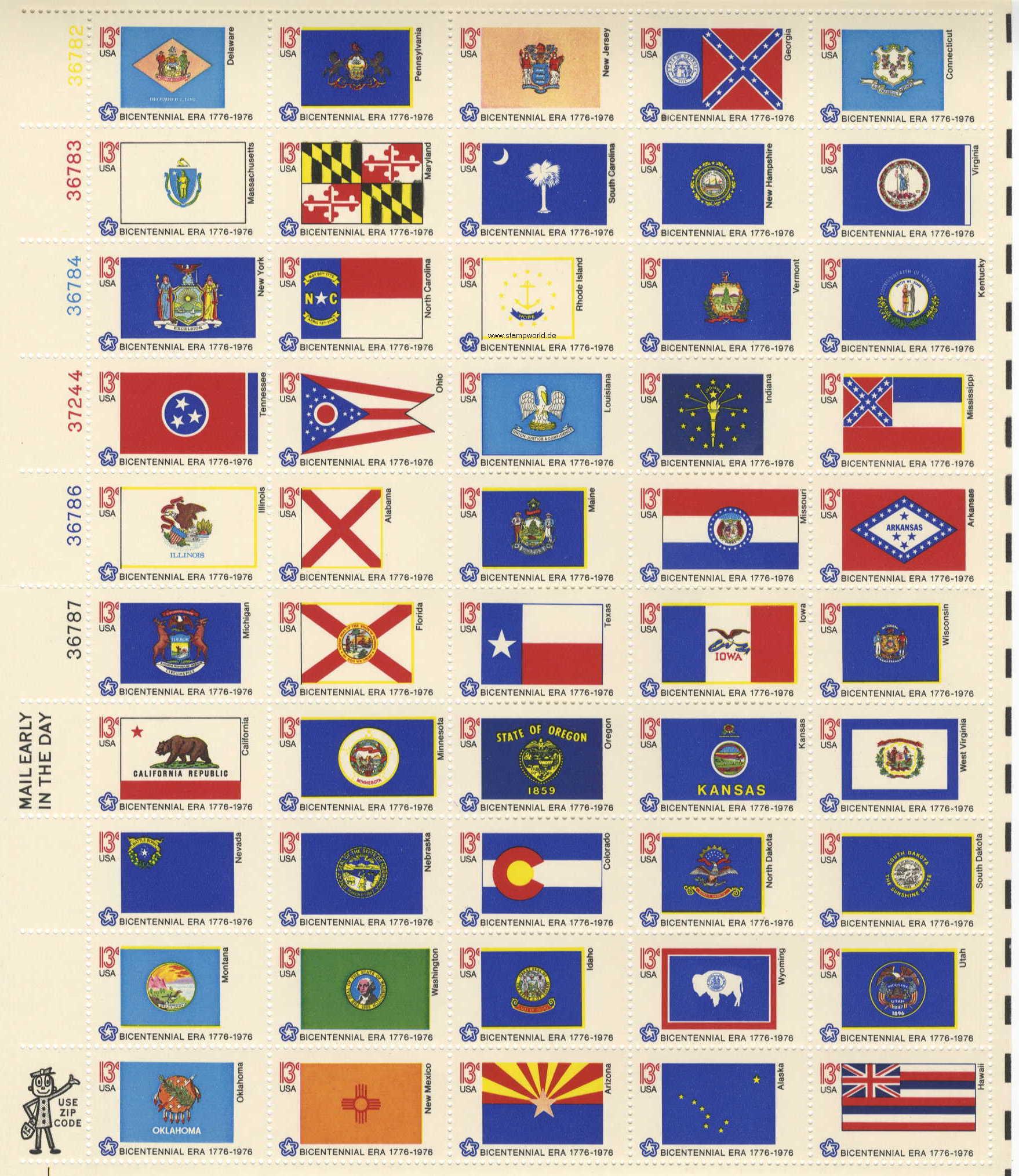 200 J Usa Flaggen Vogel Bar Bison Dampflok Usa Stamp 211208