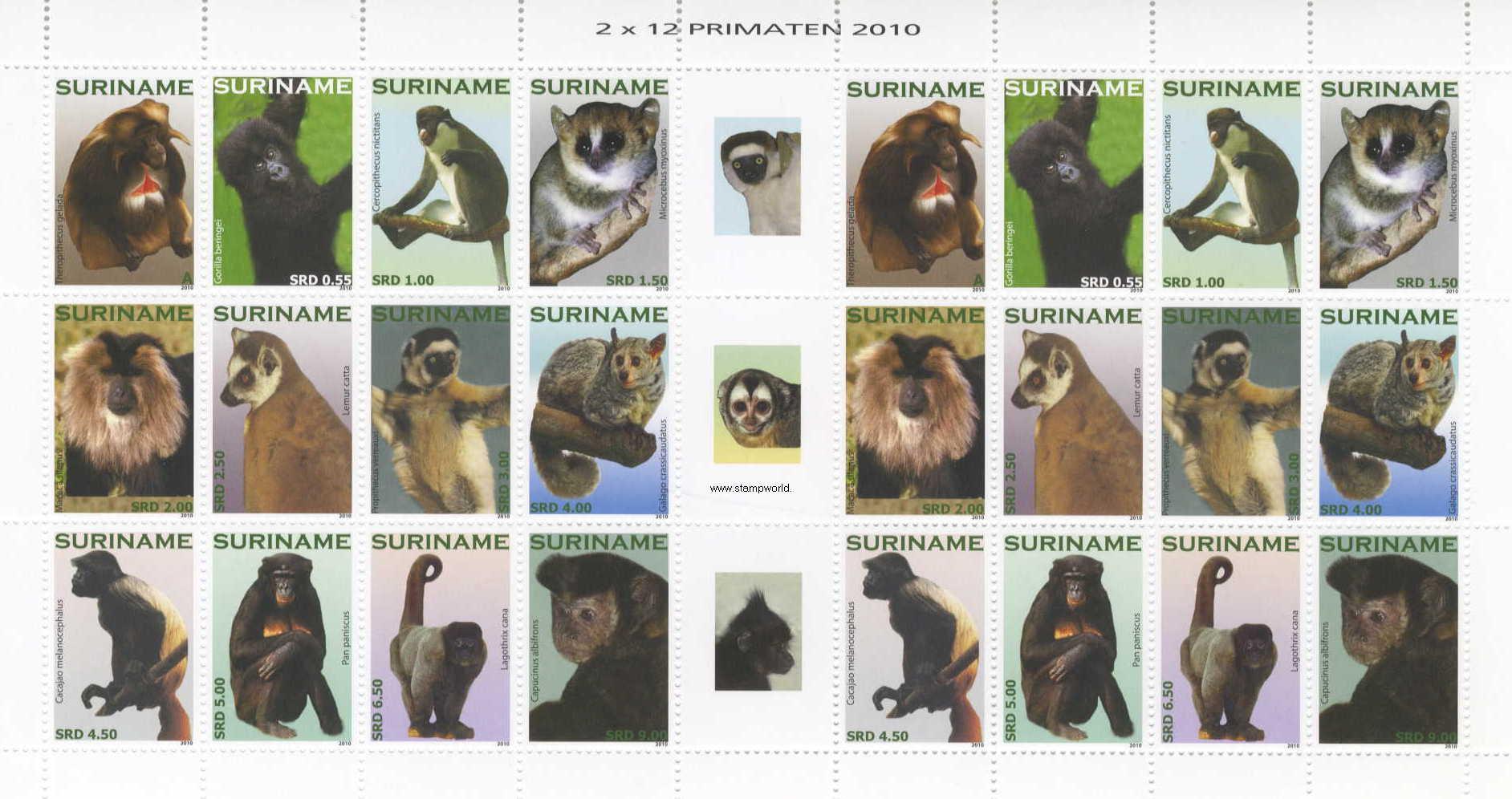 MOTIVE WELTWEIT / Tiere / Affen / Briefmarken (Seite 16