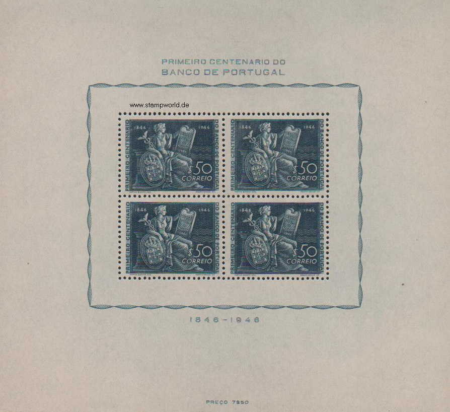 Briefmarken/Stamps Bank v. Portugal/Allegorie