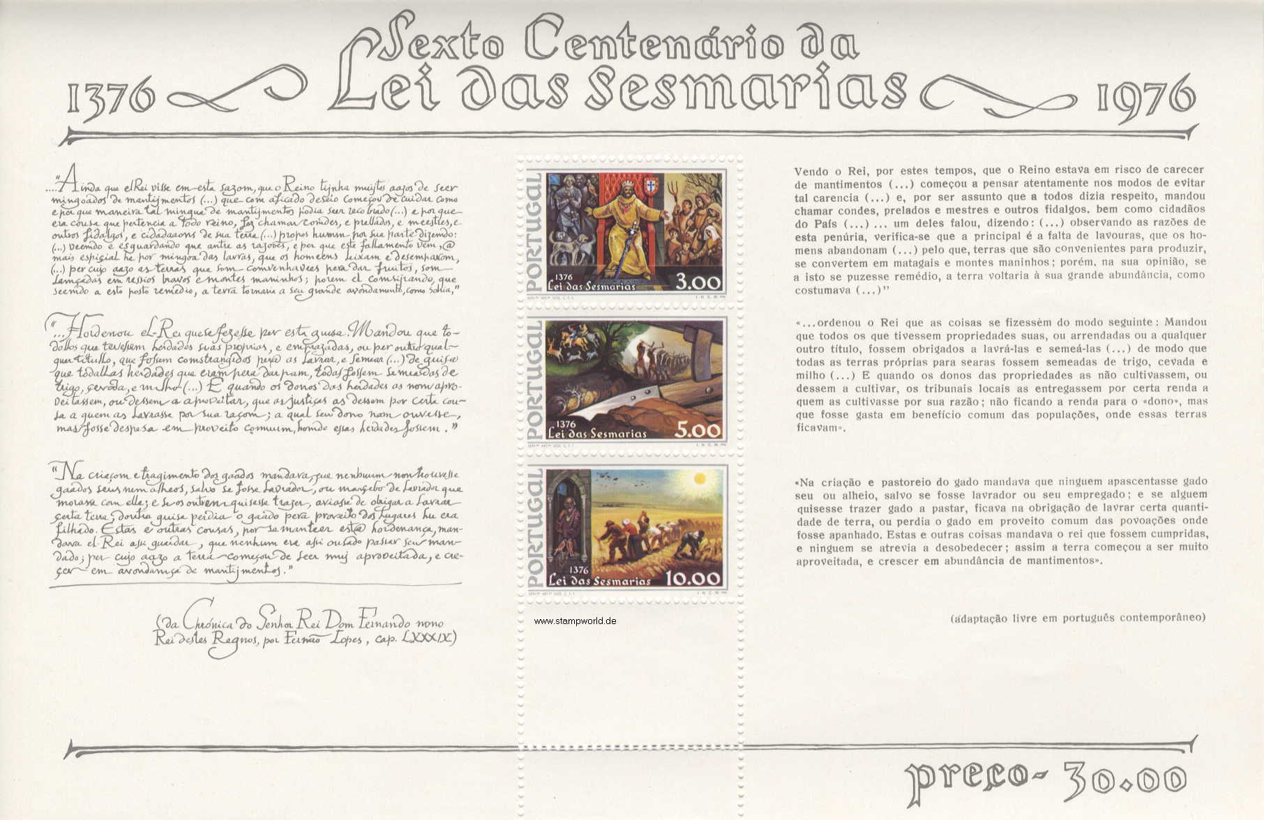 Briefmarken/Stamps Bodenrechtsreform
