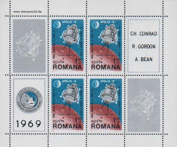 Briefmarken/Stamps Weltraum (Apollo 12)
