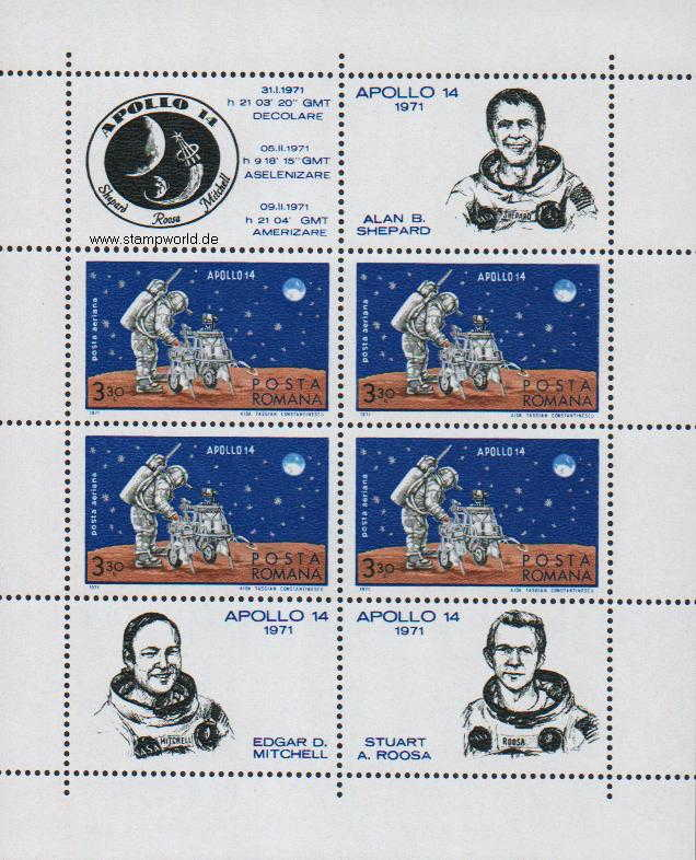 Briefmarken/Stamps Weltraum/Apollo 14/Astronauten