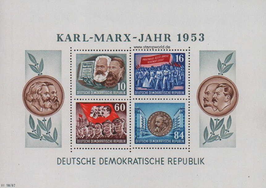 Briefmarken/Stamps Karl-Marx-Jahr