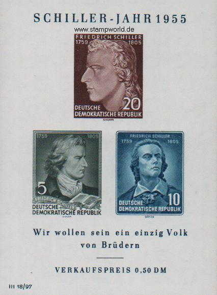 Briefmarken/Stamps Friedrich Schiller